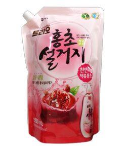 Aekyung 애경 트리오 홍초 설거지 Nước rửa bát lựu Aekyung túi 1.2L